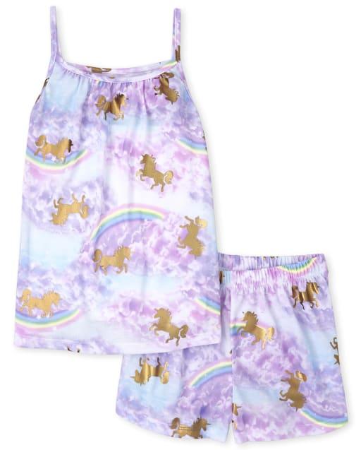 Pijama Unicornio Arcoiris Niñas
