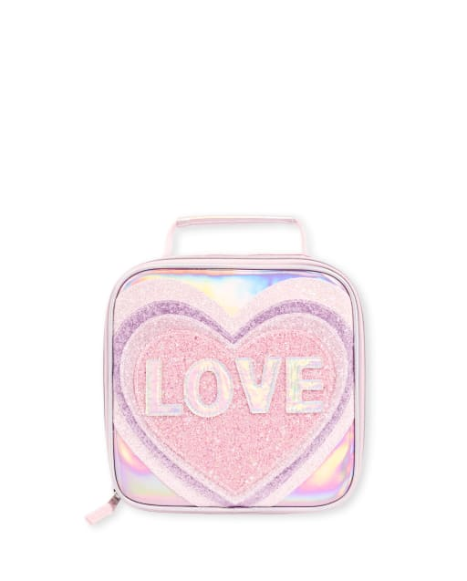 Girls Glitter 'Love' Lunch Box