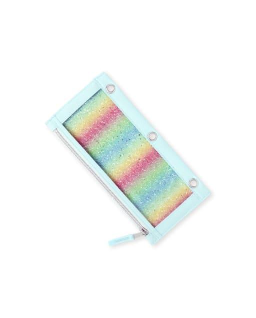 Girls Rainbow Glitter Pencil Case