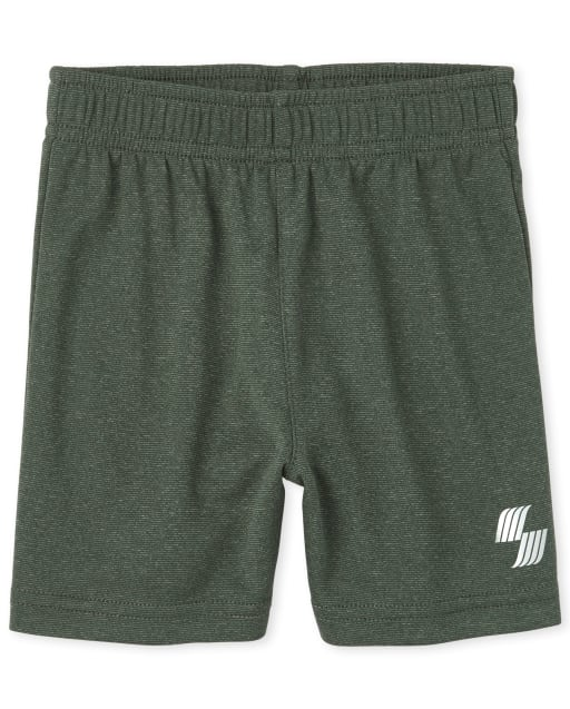 Baby And Toddler Boys PLACE Sport Marled Knit Performance Basketball Shorts