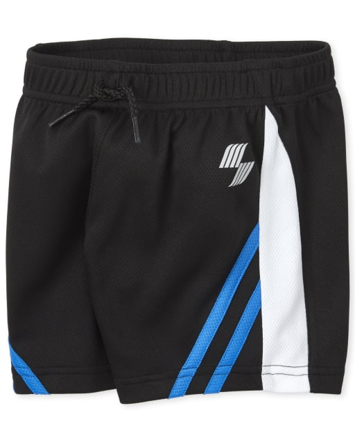 Baby And Toddler Boys PLACE Sport Striped Knit Performance Basketball Shorts