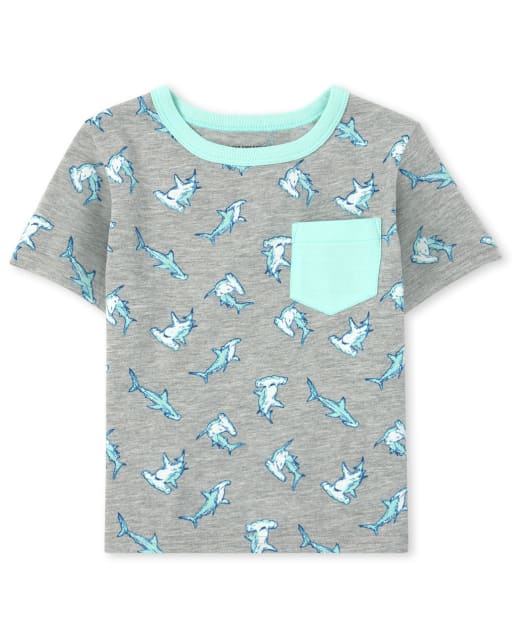 Baby And Toddler Boys Mix And Match Short Sleeve Print Pocket Top