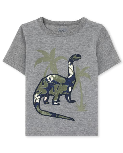 Baby And Toddler Boys Short Sleeve Embroidered Graphic Top