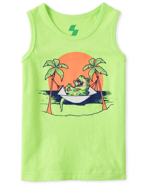 Baby And Toddler Boys Sleeveless Mix And Match Graphic Tank Top