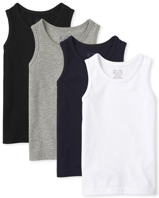 Baby And Toddler Boys Mix And Match Sleeveless Basic Tank Top 4-Pack