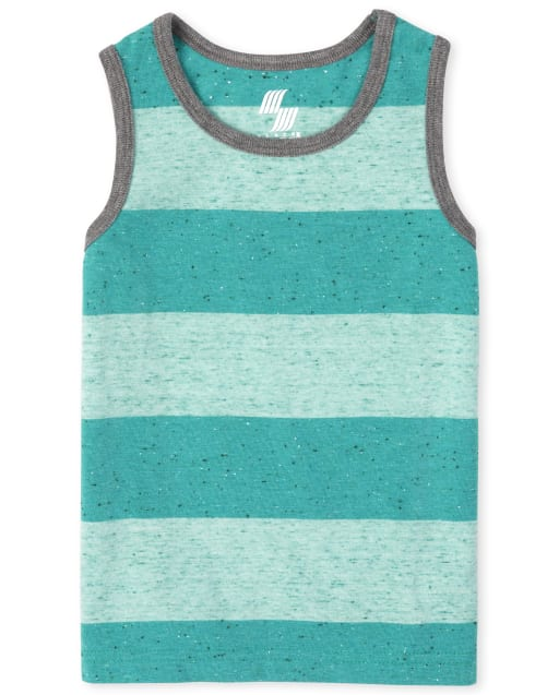 Baby And Toddler Boys Mix And Match Sleeveless Striped Tank Top