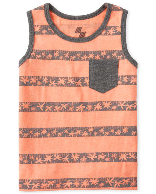 Baby And Toddler Boys Mix And Match Sleeveless Striped Pocket Tank Top