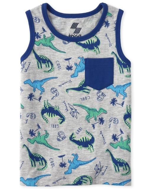 Baby And Toddler Boys Mix And Match Sleeveless Print Pocket Tank Top