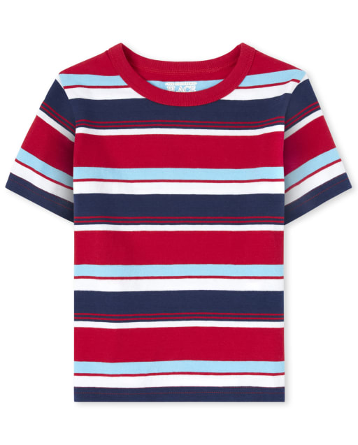 Baby And Toddler Boys Mix And Match Short Sleeve Striped Top