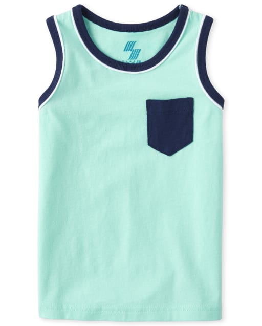 Baby And Toddler Boys Mix And Match Sleeveless Pocket Tank Top