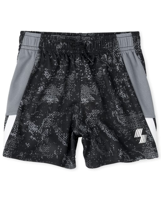 Baby And Toddler Boys PLACE Sport Print Performance Basketball Shorts