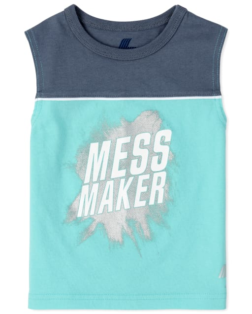 Baby And Toddler Boys PLACE Sport Sleeveless Graphic Muscle Top