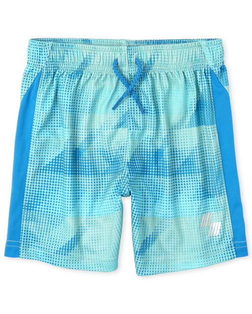 Baby And Toddler Boys Mix And Match Print Side Stripe Knit Performance Basketball Shorts