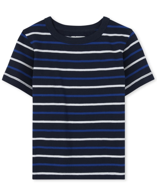 Baby And Toddler Boys Short Sleeve Striped Top