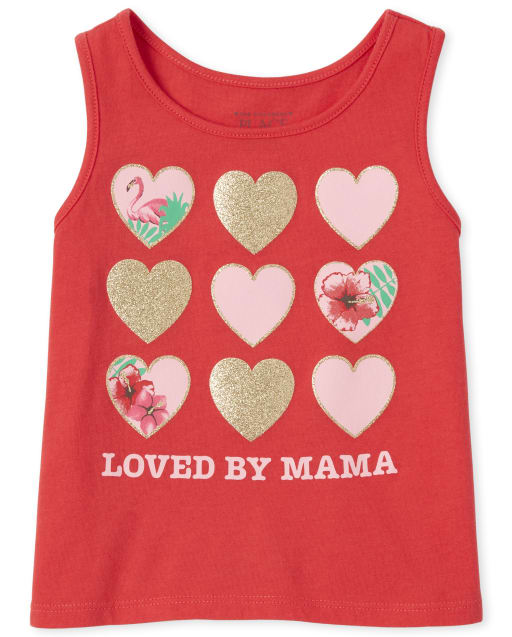 Baby And Toddler Girls Mix And Match Sleeveless Glitter Graphic Tank Top