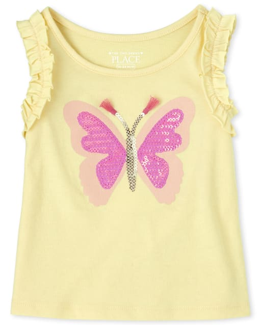 NWT Gymboree Striped Ruffle Tank Top Shirt  Sunny CITRUS 5 6 7 8 Girls