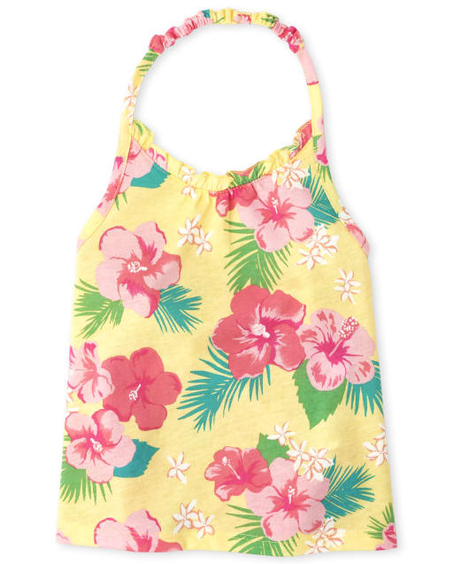 Baby And Toddler Girls Mix And Match Sleeveless Print Halter Top