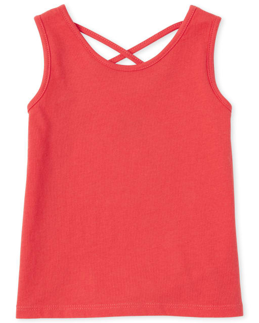 Baby And Toddler Girls Mix And Match Sleeveless Cross Back Tank Top