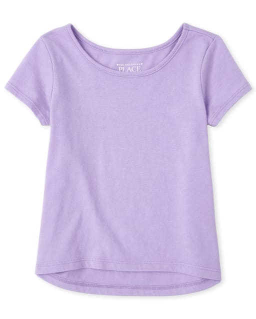 Baby And Toddler Girls Short Sleeve High Low Top