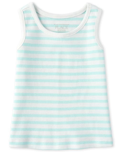 Baby And Toddler Girls Sleeveless Striped Tank Top