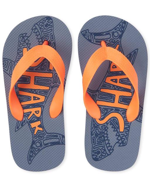 Boys Shark Flip Flops