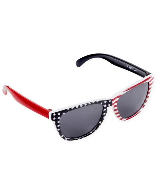 Toddler Boys Americana And Canada Day Flag Retro Sunglasses