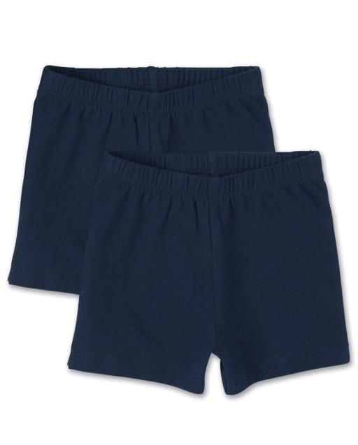 Toddler Girls Uniform Knit Cartwheel Shorts