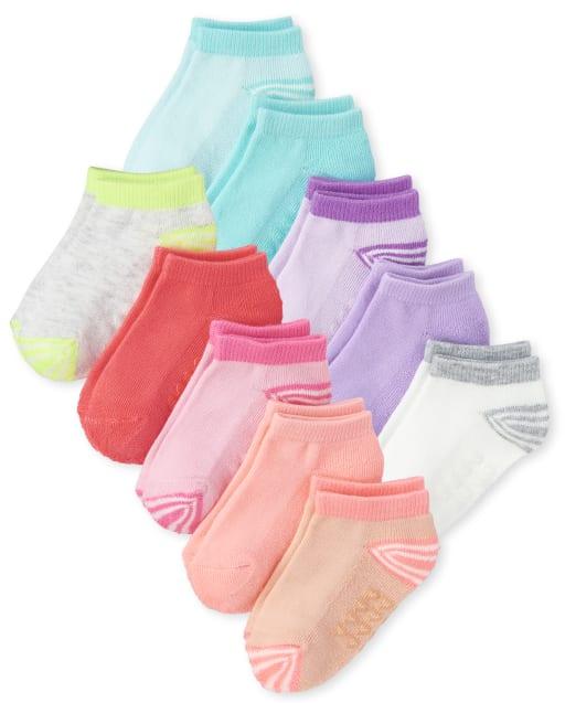 Toddler Girls Ankle Socks 10-Pack