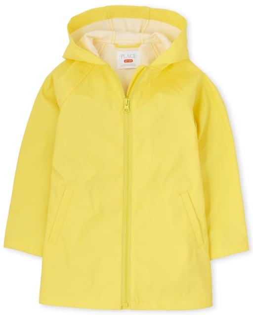 Toddler Girls Long Sleeve Hooded Rain Jacket