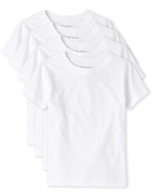 Camiseta básica para niños, paquete de 4