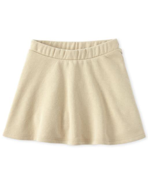 Falda de felpa francesa activa uniforme para niñas pequeñas