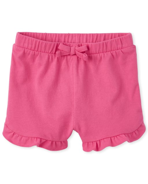 Baby And Toddler Girls Mix And Match Knit Ruffle Shorts