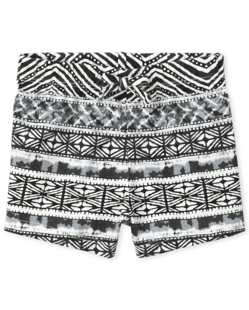 Baby And Toddler Girls Mix And Match Print Knit Shorts