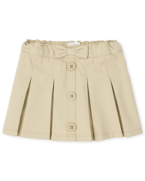 Falda con botones uniformes para niñas pequeñas