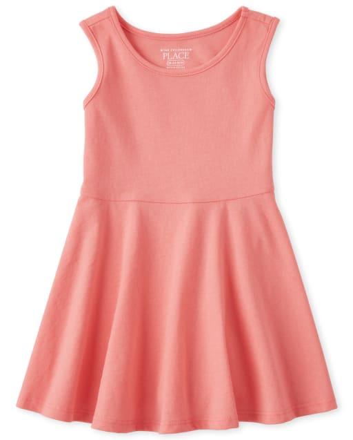 Baby and Toddler Girls Sleeveless Knit Tank Dress