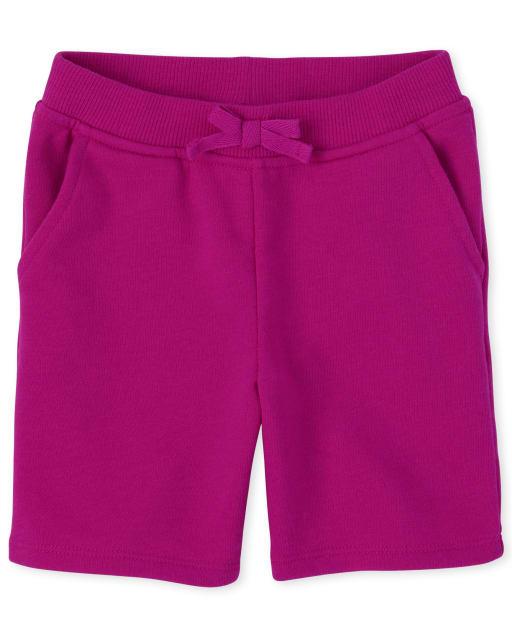 Pantalones cortos de felpa francesa activos uniformes para bebés y niñas pequeñas