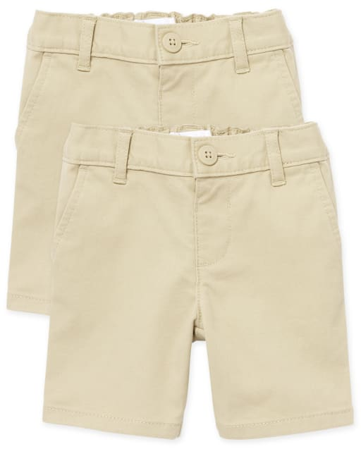 Toddler Girls Uniform Woven Chino Shorts 2-Pack
