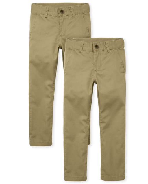 Boys Uniform Woven Skinny Chino Pants 2-Pack