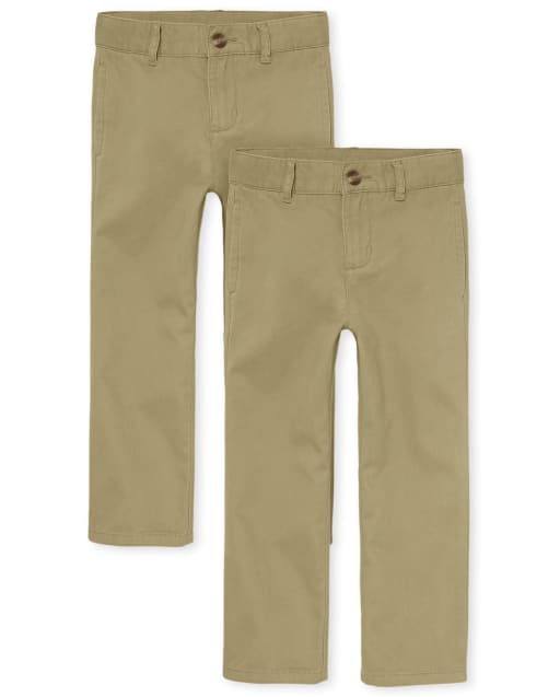 Boys Uniform Woven Chino Pants 2-Pack