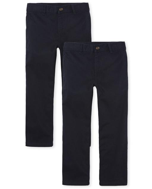 Boys Uniform Woven Chino Pants 2-Pack