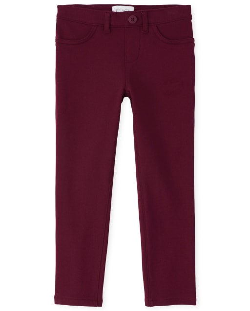 Jeggings Ponte Knit Uniforme para niñas