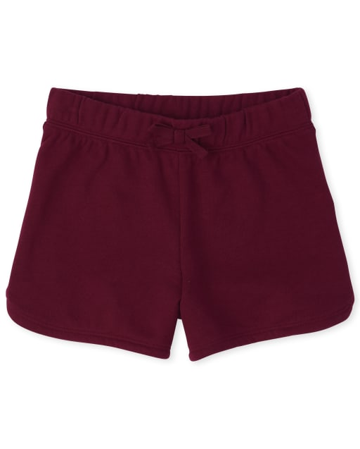 Girls Uniform Active French Terry Knit Shorts