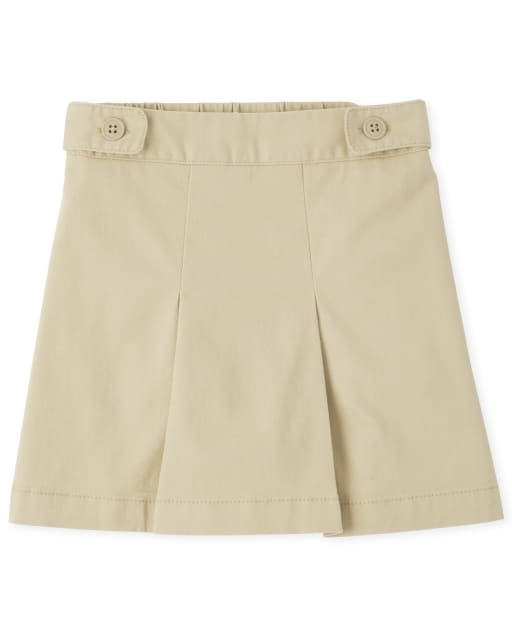 Girls Uniform Woven Wrinkle Resistant Skort