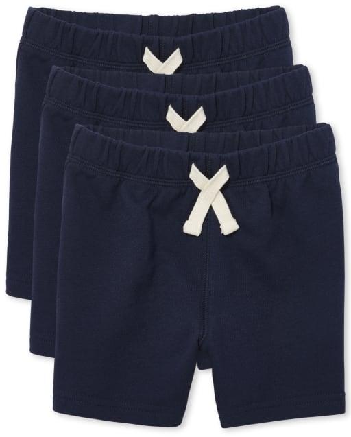 Paquete de 3 pantalones cortos de punto para bebés y niños pequeños