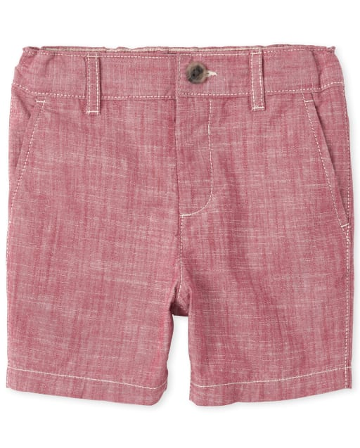 Baby And Toddler Boys Crosshatch Woven Chino Shorts