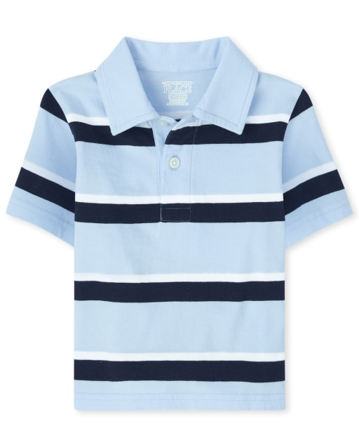 Baby And Toddler Boys Uniform Short Sleeve Striped Jersey Polo