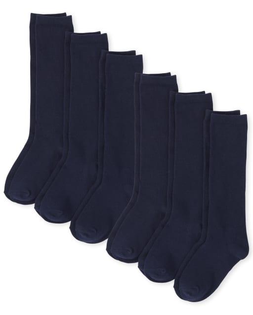 Girls Knee Socks 6-Pack