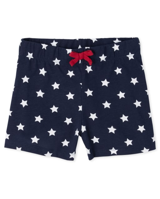 Girls Americana Mix And Match Star Print Knit Shorts