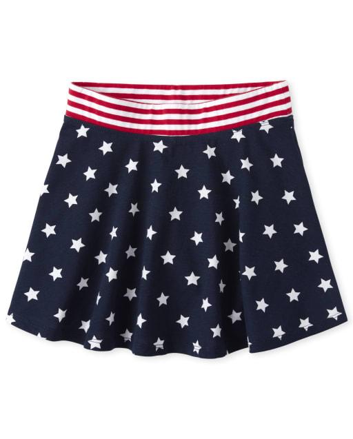 Falda Americana Mix and Match Star para niñas