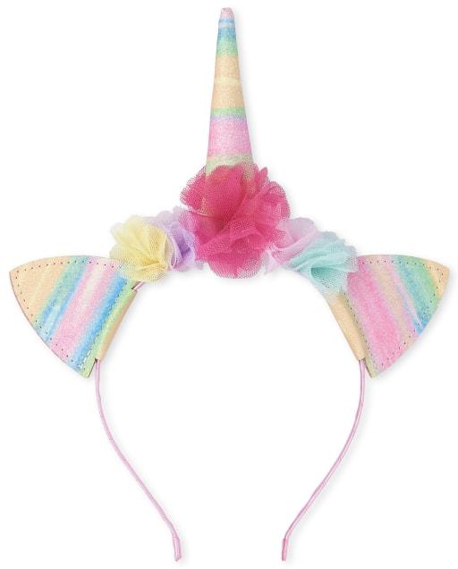 Pink 18 One Size Playshoes Girls Fleece-Stirnband Sterne Headband Pink